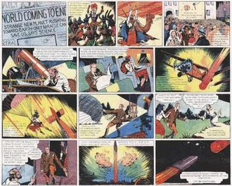 Flash Gordon - The first Flash Gordon comic strip (1934).
