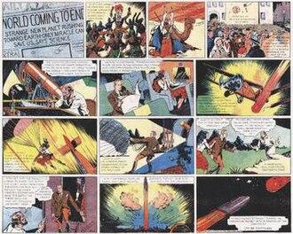 Flash Gordon - The first Flash Gordon comic strip (1934).