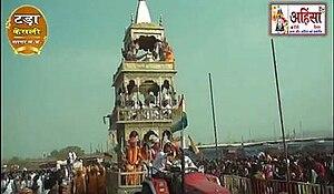 Panch Kalyanaka Pratishtha Mahotsava - Gajrath chariot in Tada, Bundelkhand