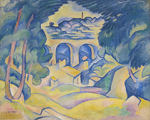 Georges Braque - Georges Braque, 1907-08, The Viaduct at L'Estaque (Le Viaduc de l'Estaque), oil on canvas, 65.1 x 80.6 cm, Minneapolis Institute of Arts