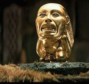 """Golden Idol - Fictional """"Golden Idol"""" (Ancient goddess of fertility) from the 1981 feature film Raiders of the Lost Ark."""
