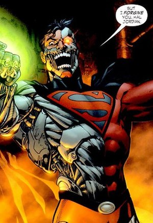 Cyborg Superman - Image: Hank Henshaw, as he appears in the panel of a comic book