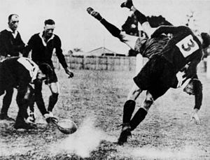 Herb Steinohrt - Herb Steinohrt tackling a Brisbane player in the Bulimba Cup
