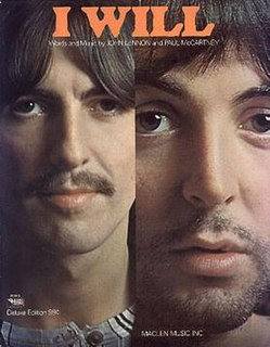 I Will Original song written and composed by Lennon-McCartney