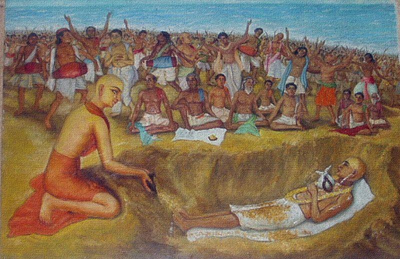 File:Jagannatha Puri Mahaprabhu laid Haridasa to samadhi.jpg