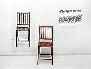 Systems art - Joseph Kosuth, One and Three Chairs (1965)