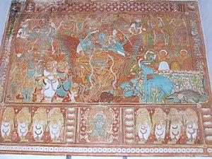Kerala mural painting - Gajendra moksham