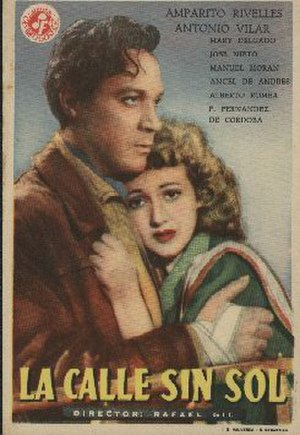 The Sunless Street - Spanish film poster