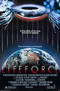 <i>Lifeforce</i> (film) 1985 British science fiction horror film by Tobe Hooper