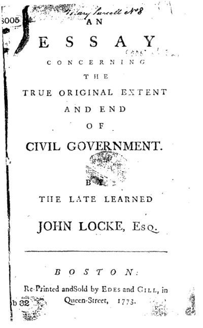 Two Treatises of Government, written by John Locke, developed the idea of 'right of revolution'. This notion was used as a basis for the Glorious Revolution of 1688.