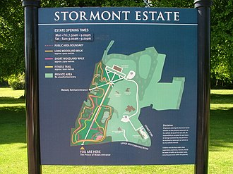 Stormont Estate - Map of the Stormont Estate showing the location of prominent buildings