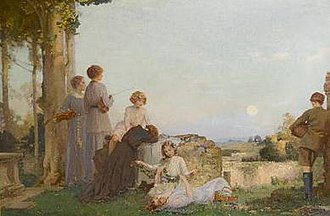 Fred Appleyard - Moonrise and Memories (RA, 1918)