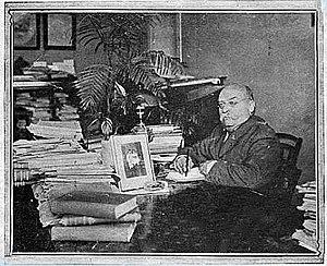 Napoleone Colajanni - Napoleone Colajanni in his study
