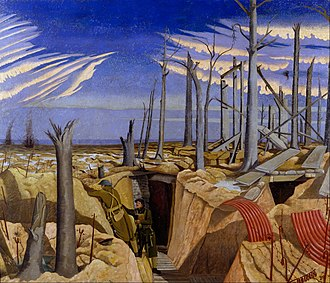 Hall of Remembrance - Image: Nash, John (RA) Oppy Wood, 1917. Evening Google Art Project