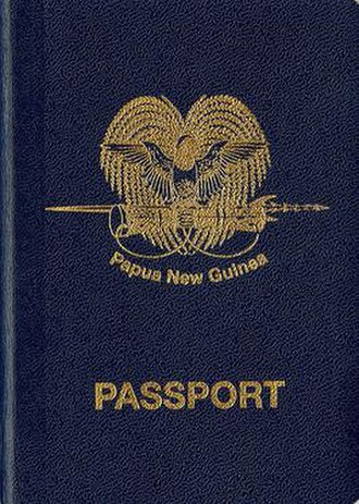 Papua New Guinean passport - The front cover of a Papua New Guinean passport