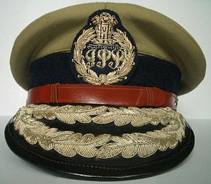A peak cap worn by Indian Police Service (I.P....