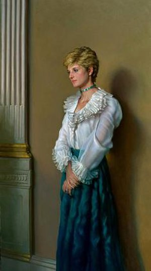 Nelson Shanks - Portrait of Diana, Princess of Wales by Nelson Shanks
