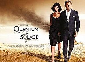 Quantum of Solace - British cinema poster for Quantum of Solace
