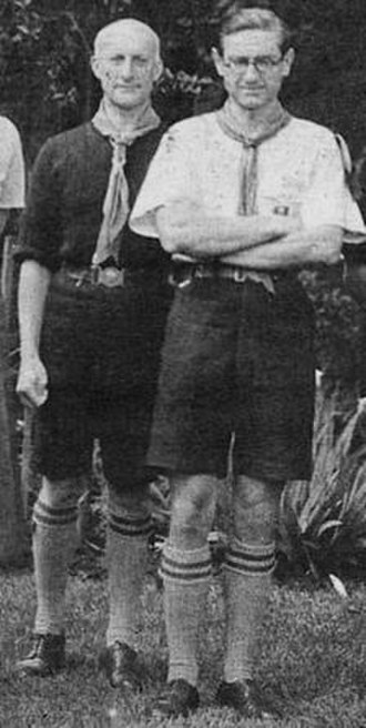 Raymond Schlemmer - Raymond Schlemmer (left) and Guillaume de Larigaudie (right) at the Frankston Jamboree in 1934