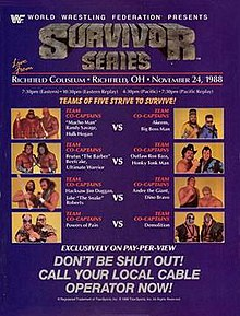 Image result for wwf survivor series 1988