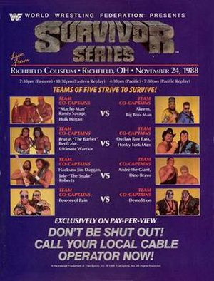 Survivor Series (1988) - Promotional poster