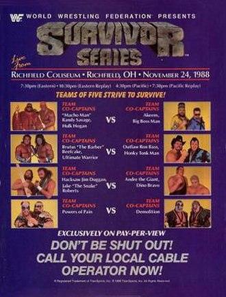 Survivor Series (1988) - Promotional poster