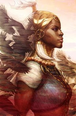Shuri as Griot, Black Panther (2018) Variant Cover.jpg