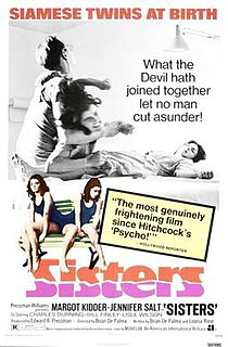 <i>Sisters</i> (1972 film) 1973 film by Brian De Palma
