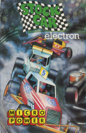 Stock Car (video game) - Acorn Electron cassette cover