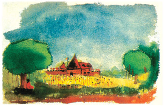 Edmund Thomas Clint - One of Clint's drawings - Temple Festival, c. 1982
