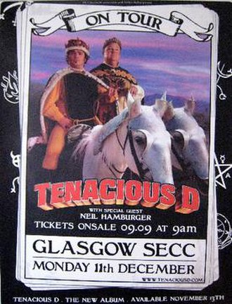 The Pick of Destiny Tour (2006–2007) - A promotional poster advertising the December 11, 2006 performance in Glasgow, Scotland.