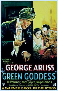 <i>The Green Goddess</i> (1930 film) 1930 film by Alfred E. Green