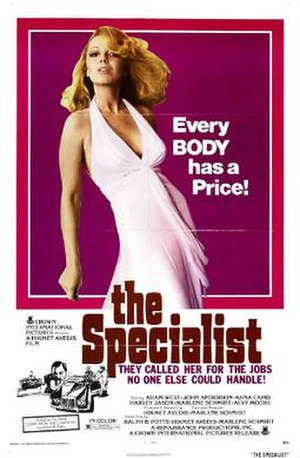 The Specialist (1975 film) - Theatrical release poster