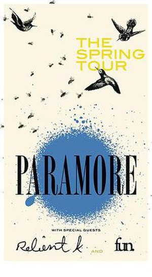 Brand New Eyes World Tour - Paramore, The Spring tour.