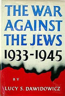 <i>The War Against the Jews</i> book by Lucy Dawidowicz