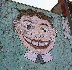 Tillie (murals) - Tillie as painted on the Palace Amusements building