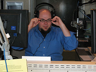 WKMS-FM - WKMS staff member Tracy Ross hosting his indie rock show, Beyond the Edge.