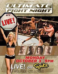 A poster or logo for Ultimate Fight Night 2.