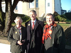 David Whitton - David Whitton MSP (right) with Hilary Benn MP and Councillor Una Walker