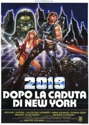 2019, After the Fall of New York - Theatrical release poster by Renato Casaro