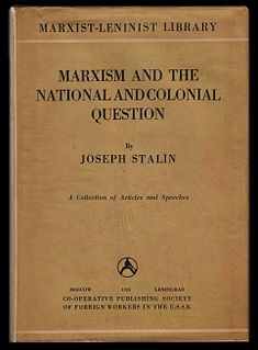 <i>Marxism and the National Question</i>