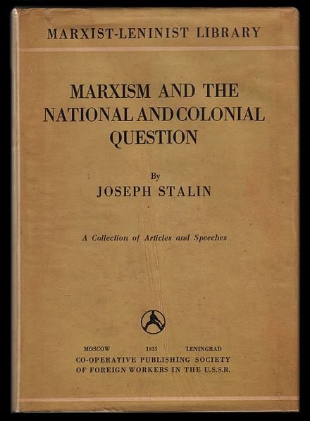 lenin thesis on the national and colonial questions The national and colonial questions: lenin: thesis on the organization of the communist parties from marx to mao.