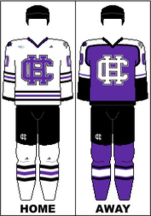 Holy Cross Crusaders men's ice hockey - Image: AHA Uniform CHC