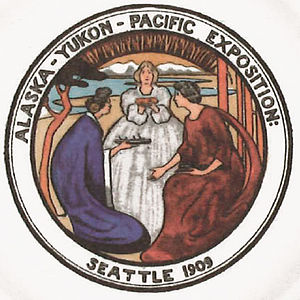 Adelaide Hanscom Leeson - Emblem of the Alaska-Yukon-Pacific Exposition, designed by Adelaide Hanscom, 1907