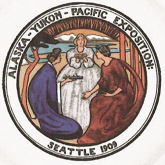 Adelaide Hanscom Leeson - Emblem of the Alaska-Yukon-Pacific Exposition, designed by Adelaide Hanscom, 1907