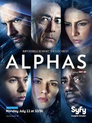 Alphas - Promotional poster showing the six main characters