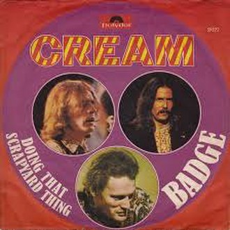 Badge (song) - Image: Badge Cream (European single sleeve)