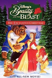 beauty and the beast the enchanted christmas original vhsjpg - Disney Beauty And The Beast Christmas Decorations