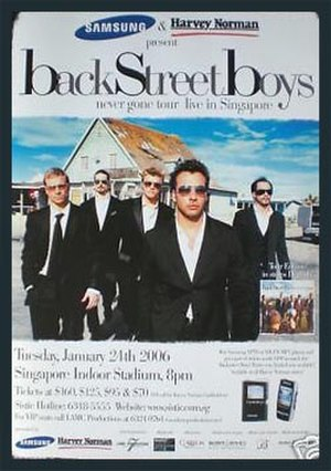 Never Gone Tour - Image: Bk St Boys 2006Tour Poster