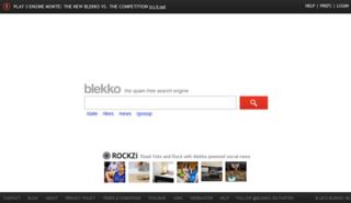 blekko Web search engine